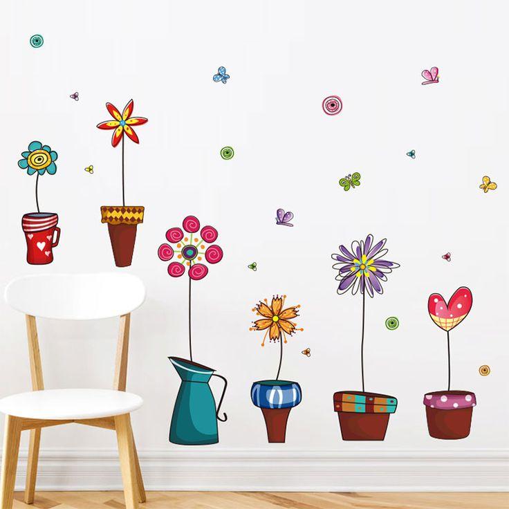 Cserepes mesevirágok falmatrica  #virág #flower #gyerekszobafalmatrica #falmatrica #gyerekszobadekoráció #gyerekszoba #matrica #faldekoráció #dekoráció