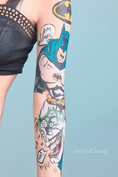 Dc comics star wars body paint tattoos http geekxgirls for Tattoo places in dc