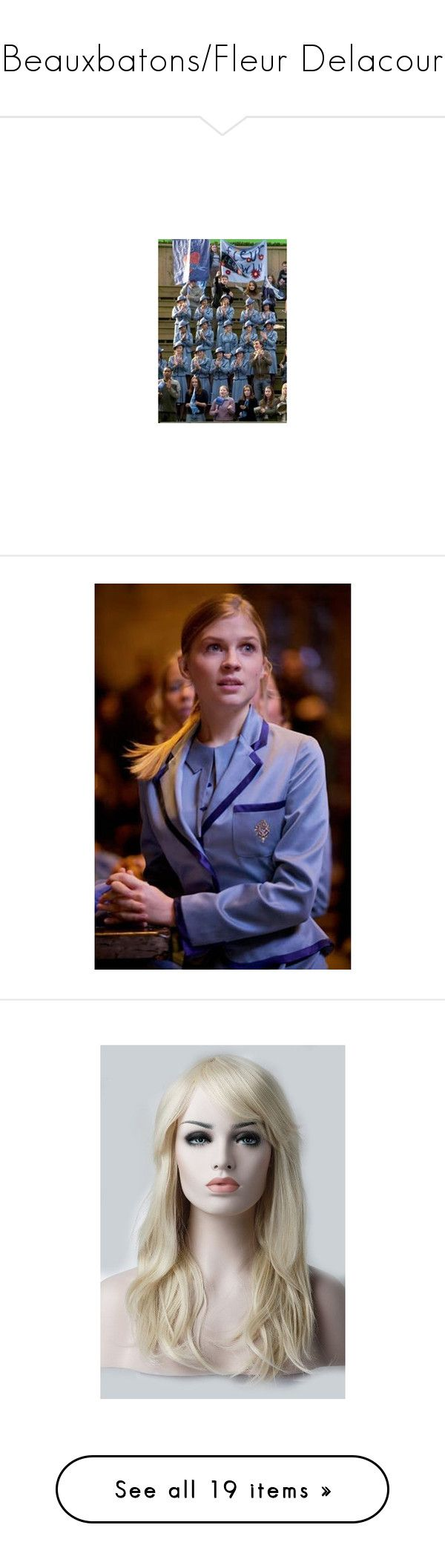 """""""Beauxbatons/Fleur Delacour"""" by lullabyyy ❤ liked on Polyvore featuring harry potter, beauxbatons, backgrounds, 4th year, hogwarts, people, beauty products, haircare, hair styling tools and hair"""