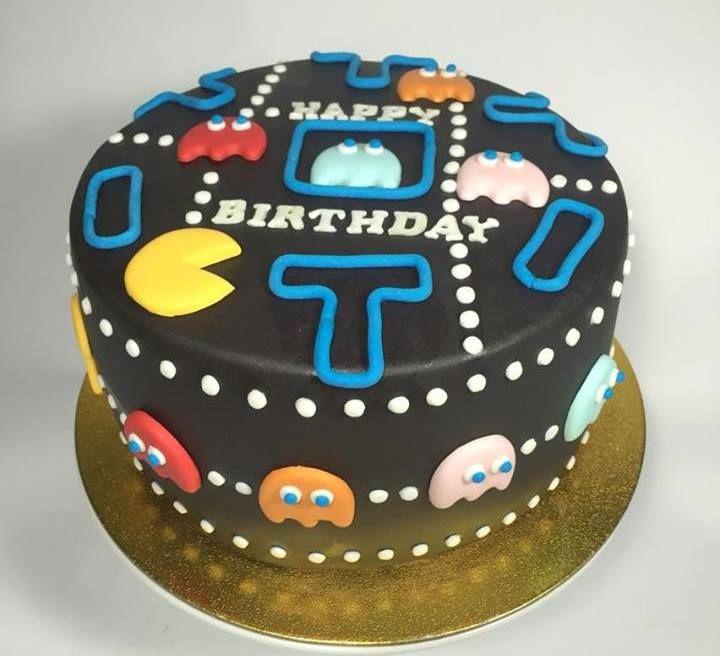 BOLO PAC MAN - TORTA PAC MAN - PAC MAN CAKE