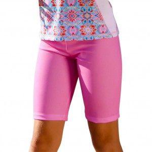 Sun Emporium Big Girls Milkshake Pink Summer Daze Print Surfer Shorts 8-12