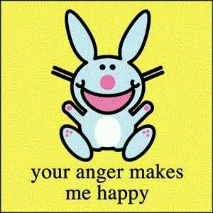 Image result for happy bunny angry