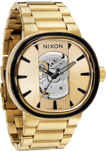 Nixon Capital Automatic All Gold Watch from Watchismo.com ...