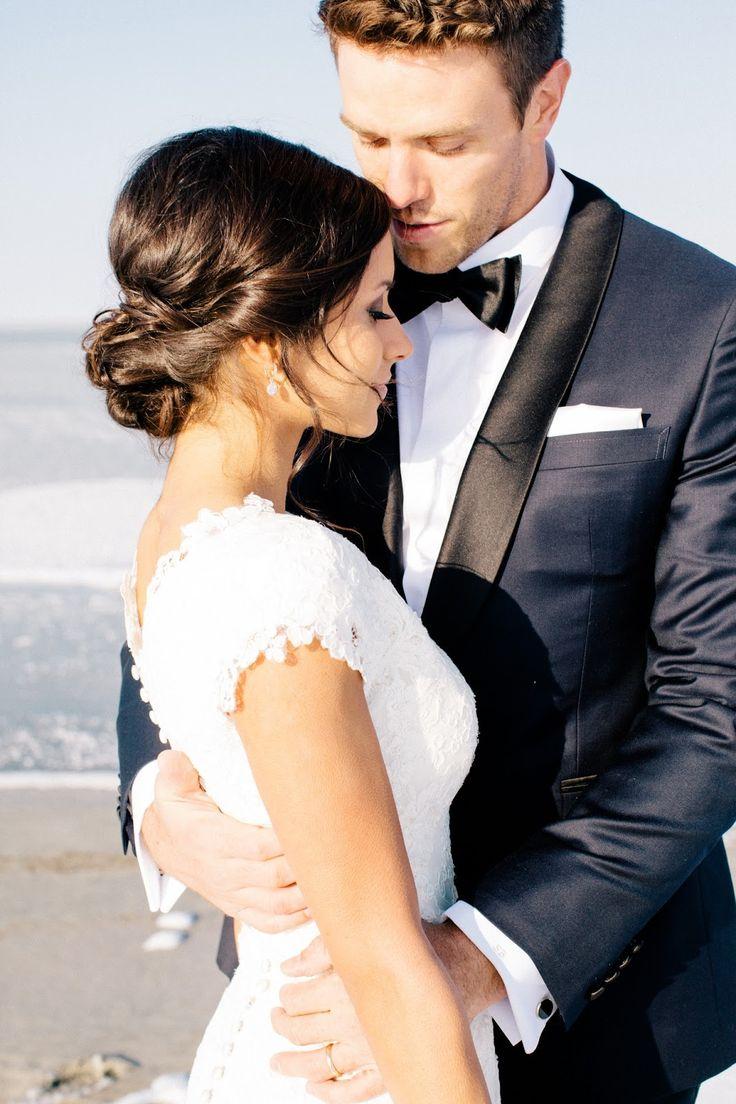 gorgeous wedding photo, tux, & hair