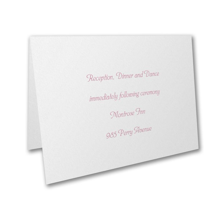 Include classic reception cards with your lovely