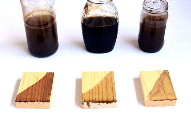 Make Wood Stain - 7 Ways! - A Piece Of Rainbow