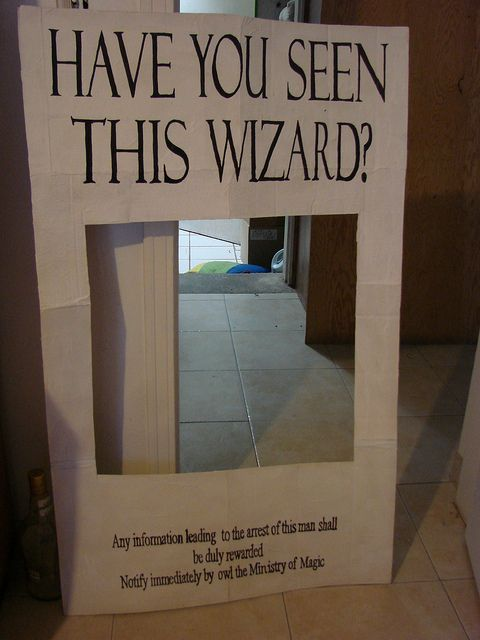 Wanted Poster Photo Prop Potter Party Pinterest The