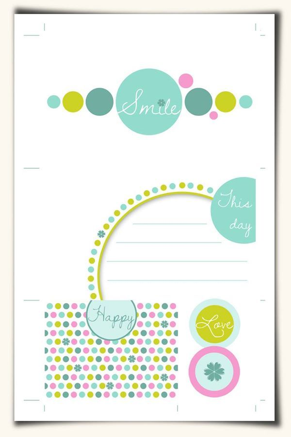 Free Journal Cards for Pocket Scrapbooking