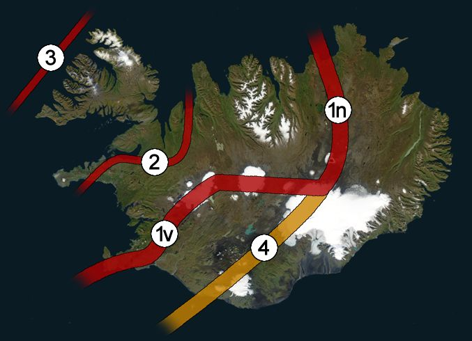 """The Snaefellsnes, Icelandic toponym meaning """"Snaefell Peninsula"""", comprises geological formations divided into three main chronological entities: - A Tertiary formation anterior to 3.1 Ma, forming part of an active rift system between 16 and 6-7 Ma (n..."""