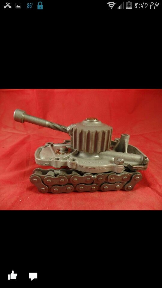 "Tank made from a car water pump. Please see my facebook page - Search "" American Metal Art """