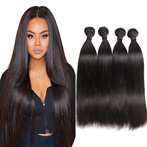 Brazilian Human Hair Extensions 100% Unprocessed Human Hair Weave Natural Color #HairExtensions