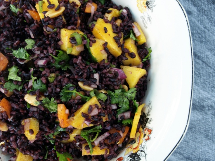 Black Rice Salad with Mango and Peanuts | Appetizers | Pinterest