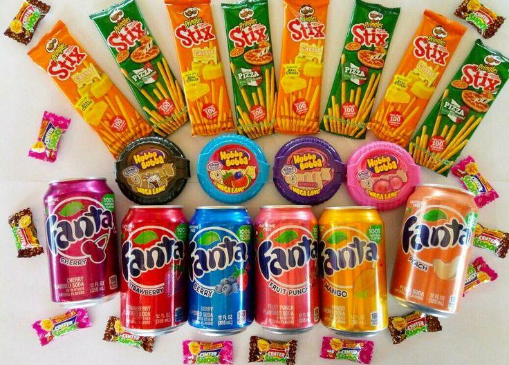 Напиток Fanta 89 Палочки Pringles 79 Жвачка Hubba Bubba 159 Жвачка поштучно Center Shock 15 #wanttasty