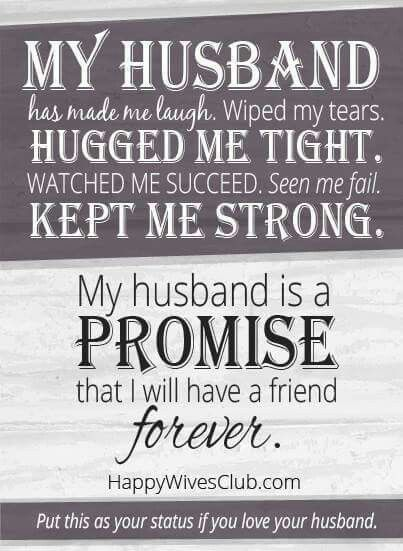 My husband has been by my side through all the good times and bad