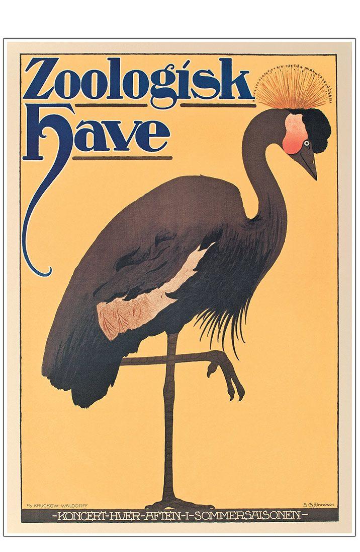 Z 17 Zoo Anonym Trane I 2020 Plakater Vintage Plakater Illustration