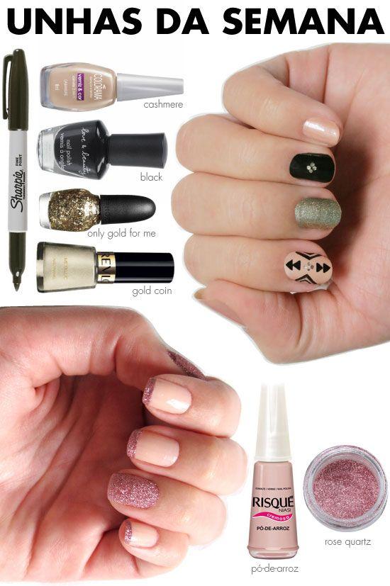 unhas-de-segunda-unhas-diferentes-e-nail-art-glitter-de-unha-inglesinha-rose-quartz-gosh-nail-glitter-sharpie-etnica-nude-preto-glitter-dourado