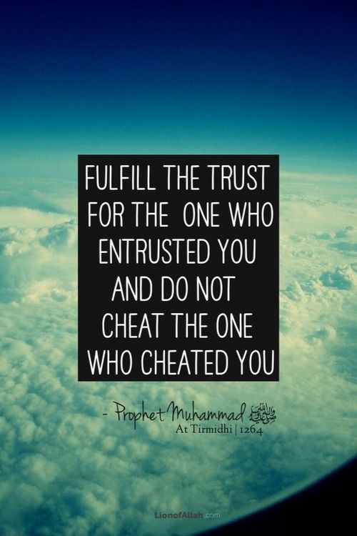 Fulfil your promises. Do not bite someone who bit you. Be the change you will to see. Allah will dispose of your affairs in an eximious way, in'sha'Allah.