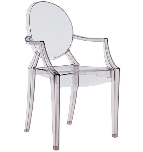 Sedia Louise Ghost di Philippe Starck per Kartell