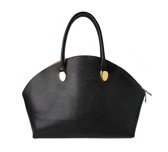Black Poise Leather Purse Bag by Poisebags on Etsy, $195.00