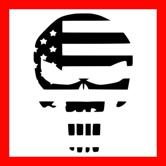 Punisher Skull Svg American Flag Svg Punisher Skull Dxf America Svg File America Dxf File Hunting Svg File Vinyl Tshirts Skull Flag Punisher Skull