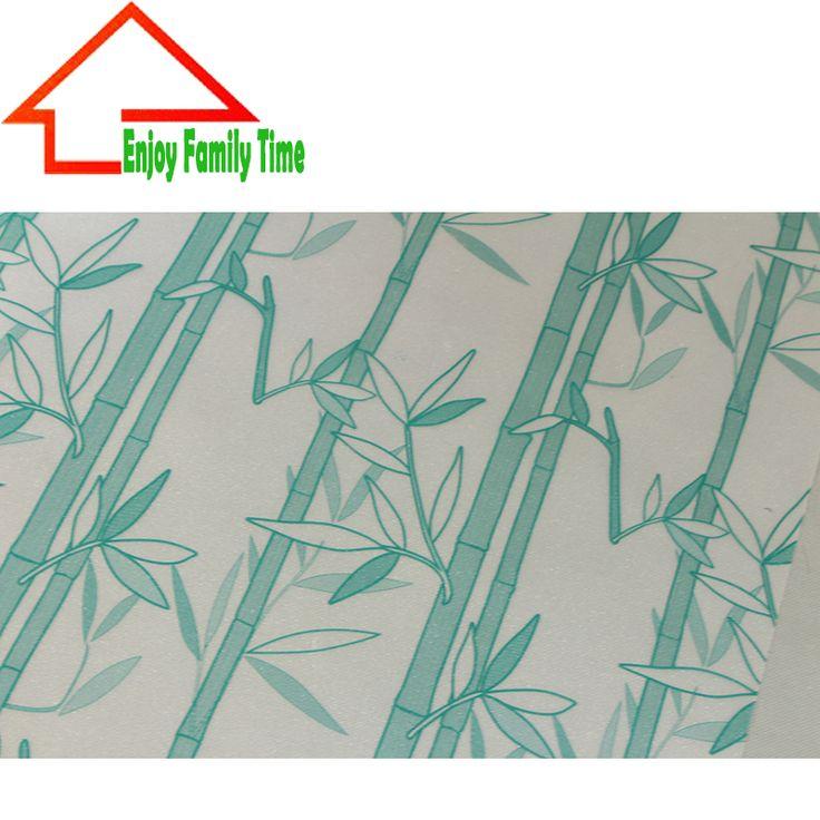 New Desgin Bamboo Window Film 60cm*5M Stained Glass New Film PVC Stained Glass Sticker Free Glue Pegatinas Para Ventanas