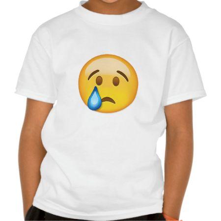 Crying Face Emoji T-Shirt