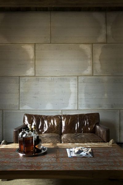 modern architectural living room wall and an amazing coffee table