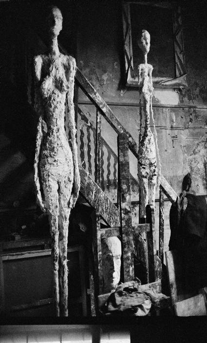 Alberto Giacometti in his studio