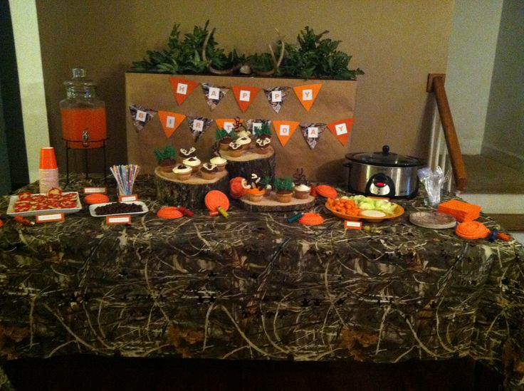 Hunting Theme Birthday Party Done Pinterest Decor