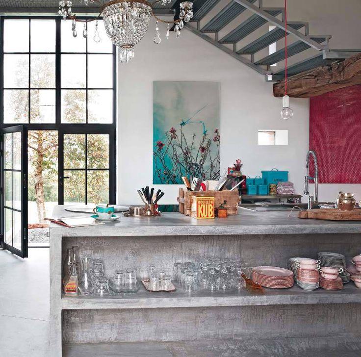 Kitchen industrial loft industrial chic style kitchen living kitchen