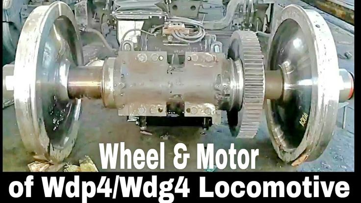 Traction motor | with Wheel assembly | of 4500hp | WDP4 train locomotive