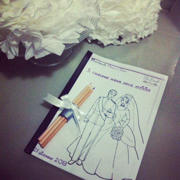 activity book, wedding ,wedding planner, baby , gioco, colorare , album www.isieventi.com
