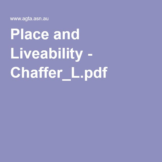 Place and Liveability - Chaffer_L.pdf