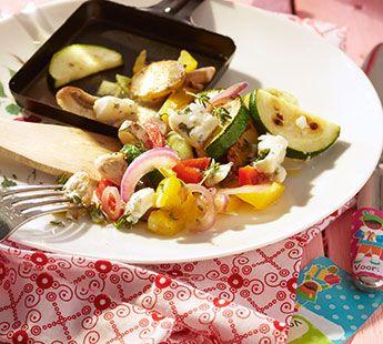 Franse groentenratatouille met roquefort Gourmetrecept - Recept - Jumbo Supermarkten