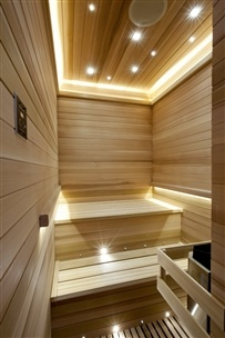 Consider this lighting idea for my sauna.