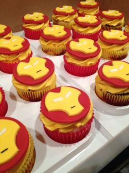 Avengers cupcakes-Iron Man http://CW-Cakes.com