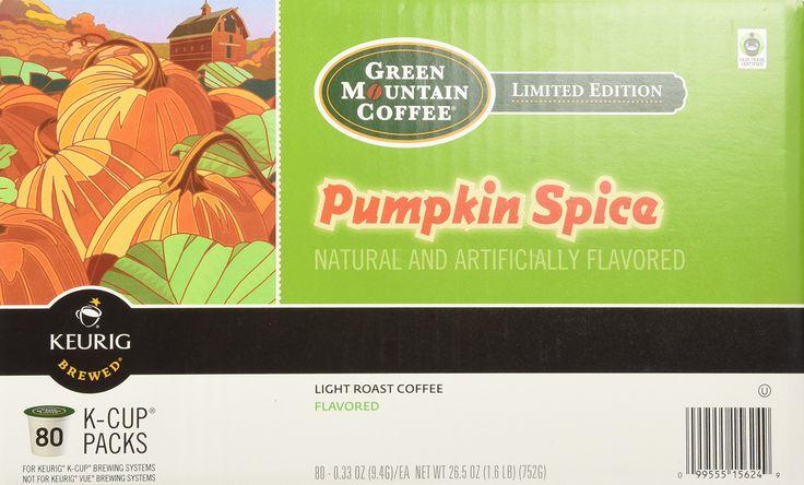 Green Mountain Coffee Fair Trade Pumpkin Spice K-Cups 80 Count Value Box