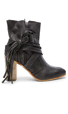 Free People Seven Wonders Booties in Dark Charcoal