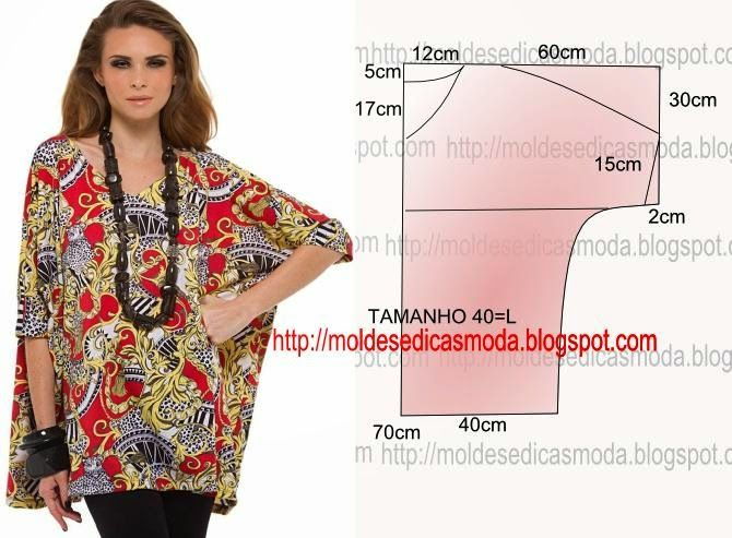 Free Instructions-Moldes Moda por Medida: BLOUSE EASY TO DO - 31