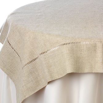 """OR Natural Hemstitch Overlay - 85"""" square"""