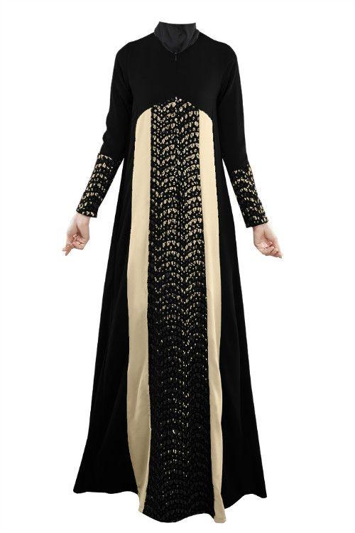 2015 Maxi Long Dress Long Sleeve For Muslimah Dresses Turkish Islamic Lace Kaftan Pathwork Robe Dubai Arabe Fashion abaya jubah
