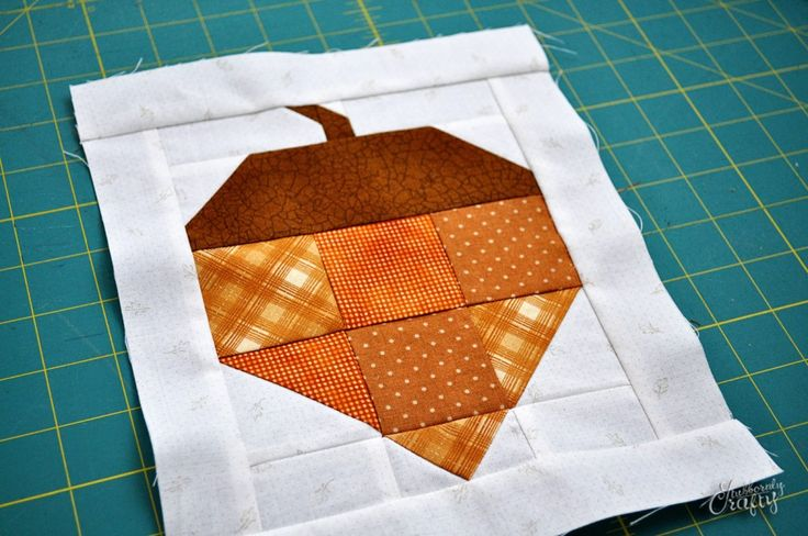 Acorn Quilt Block Tutorial by Lisa from Stubbornly Crafty