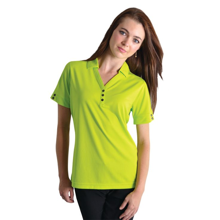 Glam Polo BRAND: OGIO Has 3-Snap Y-placket with OGIO debossed metal snaps and heat transfer label for tag free comfort