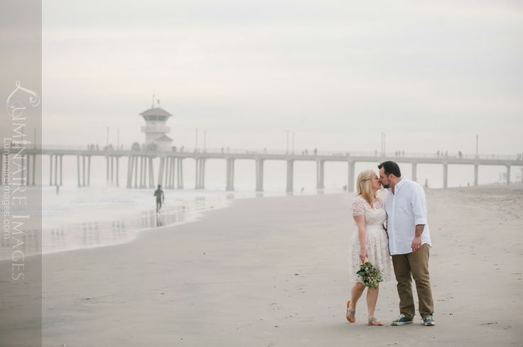 Elopement on the sand in Huntington Beach