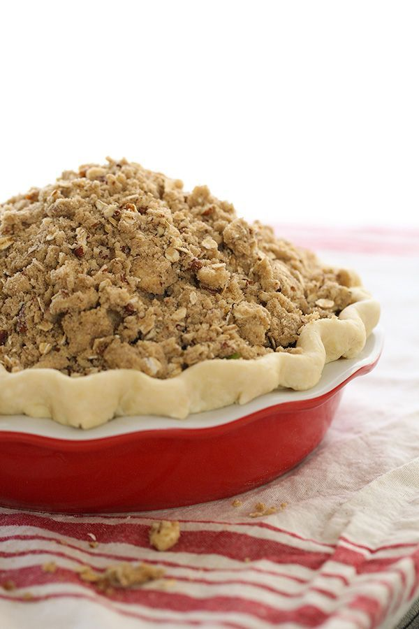 """Caramel Apple Pie with a crumble crust is a new family fave 