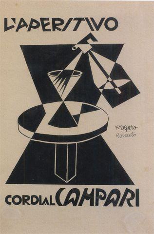F.DEPERO El aperitivo Cordial Campari, 1928 Galleria Campari