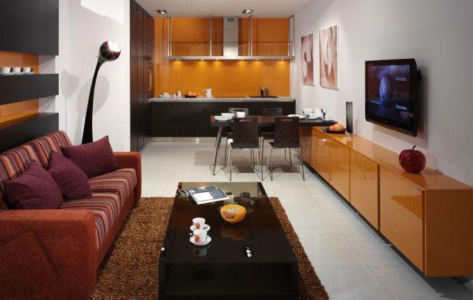 кухни-гостиные 16 ка м