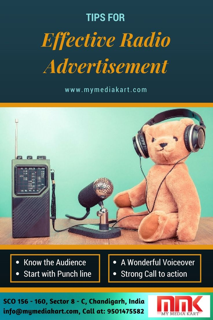 Hiring professional services by a certified radio advertising agency in Delhi will definitely let you experience the most lucrative results with the radio advertisements. Such agencies will make you aware how to understand the listeners, how to make them grab the attention of your commercial, and crafting the right message and a worthy CTA (Call to Action). http://www.mymediakart.com/blog/tips-for-an-effective-radio-advertisement/