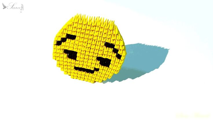 How to make 3d origami emoji - face 2