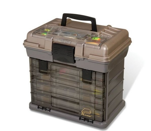3700 Size Fishing Tackle Box Plano Large 4-by Rack System Free Shipping New #Plano